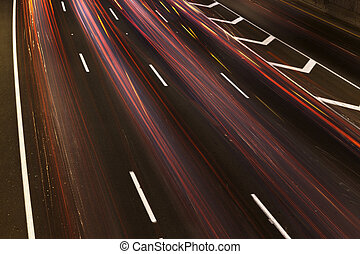 Traffic Rainbow River - Colorful trails of light is all that...