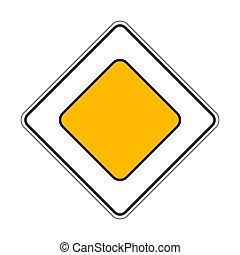 Traffic-road sign