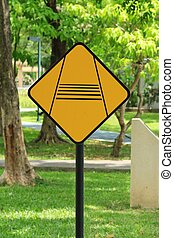 traffic road sign in the park