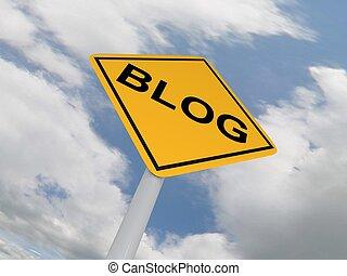 Traffic Sign Blog Ahead