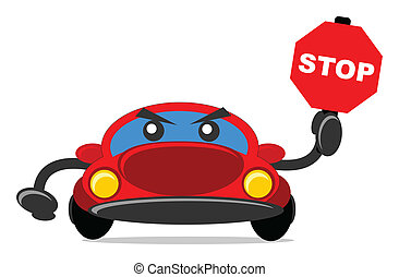 traffic sign car