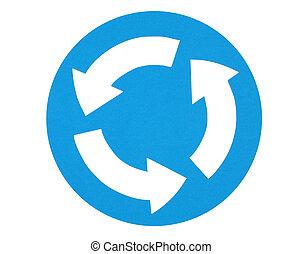 Traffic sign -circular move