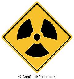 traffic sign - Traffic sign - radiation traffic sign -...