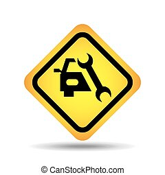 traffic sign concept icon support car tool