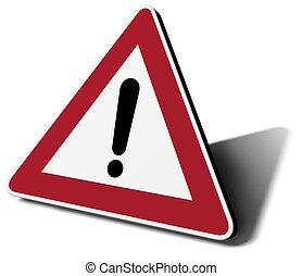 traffic sign danger 3d illustration