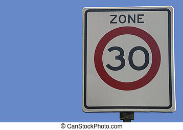 Dutch traffic sign, speed limit 30 km/hour
