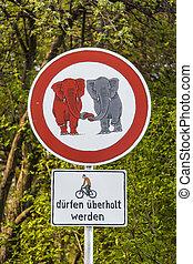 traffic sign elefants in Love