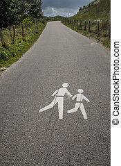 traffic sign for pedestrian