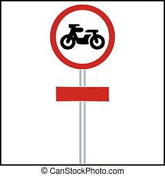 traffic sign forbidden entrance motorcycle