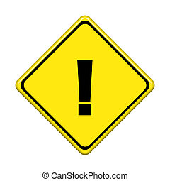 Traffic sign isolated on white background.