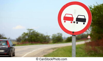 Traffic sign - Landscape with a European traffic sign...