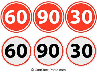 traffic sign limit speed