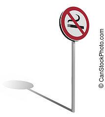 traffic sign no smoking
