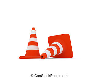 traffic sign object over white - isolated traffic sign on a...