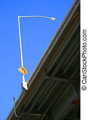 Traffic Sign on a Light Pole