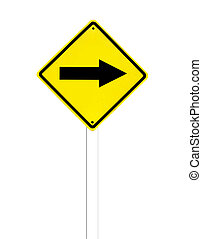 Traffic sign on a white background