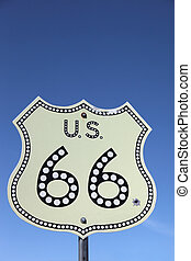 Traffic sign on  Historic route 66