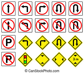 traffic sign on white background