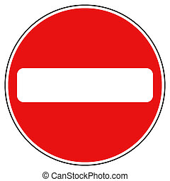 Traffic sign - one way traffic sign
