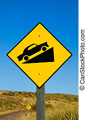 Traffic sign. - Traffic sign in a road in Patagonia.