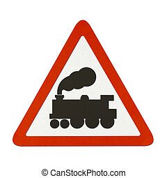 Traffic sign recycled paper - Railway Crossing Without Gate ...