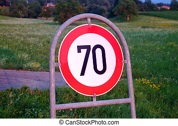 traffic sign speed limit 70