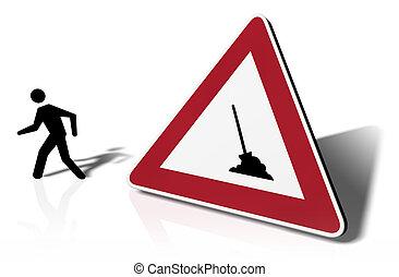 traffic sign strike