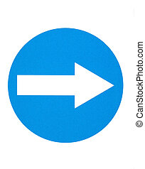 Traffic sign - Trafic sign- order of the ride to the right
