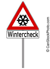 Traffic Sign - Warning traffic sign because of snow and ice...