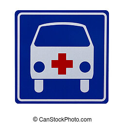 Traffic sign with ambulance