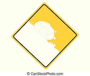 Traffic sign with avalanche