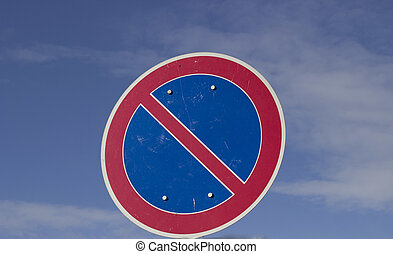 Traffic sign with blue sky
