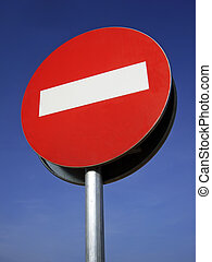 Traffic signal - Forbidden Direction Signal in an european...