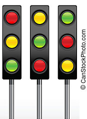 illustration of traffic signal icon on white background