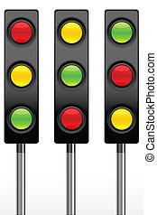 traffic signal icons - illustration of traffic signal icon...