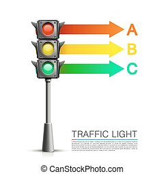 Traffic signal info on a white background. Vector...