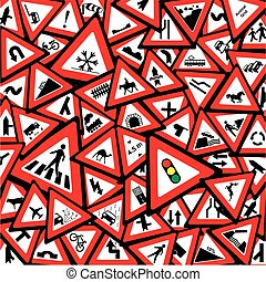 Traffic Signs Background for roads safety concept
