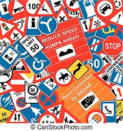 Traffic Signs Background for safety concept