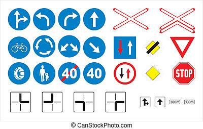 Traffic signs - Obligatory & Priori - Traffic sign...