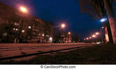 Traffic Street Road Night City