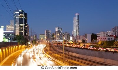Traffic Time Lapse - Ayalon Freeway