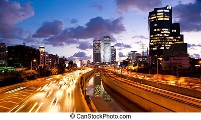 Traffic Time Lapse - Ayalon Freeway