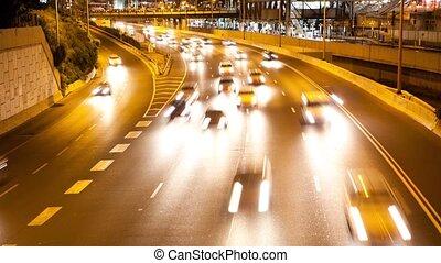 Freeway Time lapse at Night