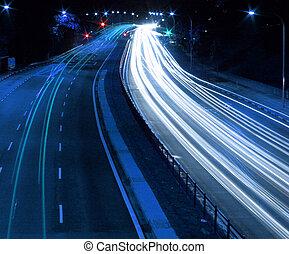 traffic - Traffic at night