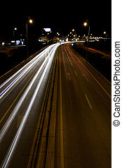 traffic trails of light