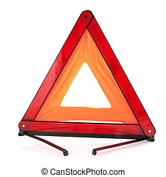 Reflection traffic triangle for use with an car accident