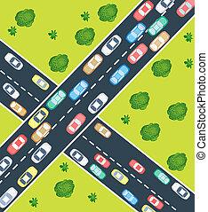 traffico, autostrada