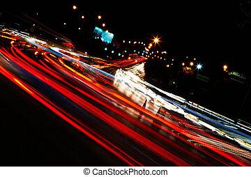 traffico, notte