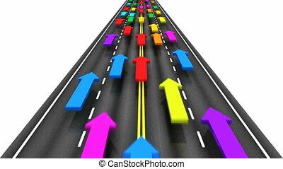 traffico, strada