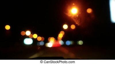 trafic, 4k, nuit